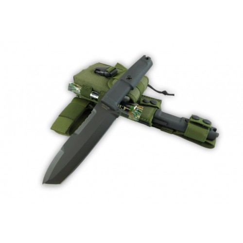 Extrema Ratio Ontos, Green Sheath & survival kit