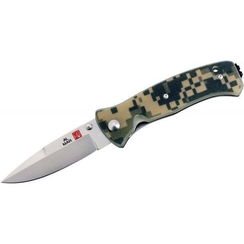 Al Mar Sere 2000™, VG-10 Satin Plain Blade, Digital Camo G-10 Handles