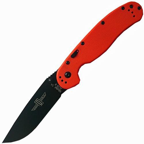 Ontario RAT™-1A Assisted Black Blade, Orange G-10 Handle