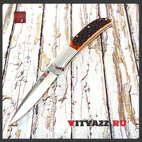 Al Mar Eagle Classic, Talon Blade, Honey Jigged Bone