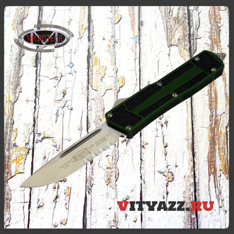 Microtech Knives Scarab S/E Satin Partial Serrated 178-5OD QD