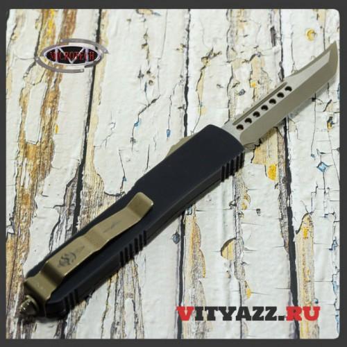 Microtech 119-13CF Ultratech Hellhound - Carbon Fiber Bronzed Standard