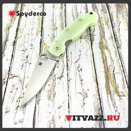 Spyderco M4 Military Knife Natural G-10 Exclusive